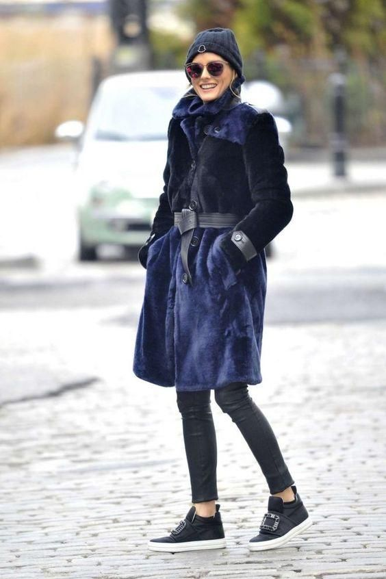 Olivia Palermo wearing J Brand L8007 Edita Leather ...