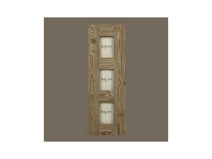 Dřevěný rámeček až na tři obrázky.