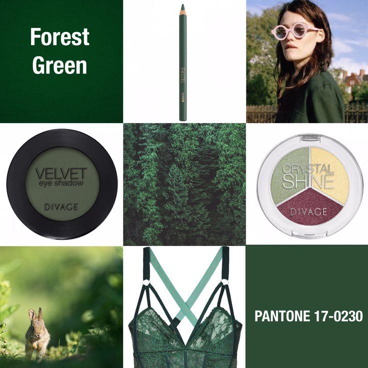 #coloroftheweek Pantone 17-0230 Forest Green: un verde scuro e intenso che deve il suo nome alle foreste di conifere dei paesi del nord. Elegante e adatto ad ogni occasione, per il make up si presta a bellissimi smokey eyes super intensi.