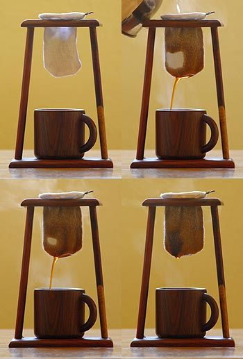 Another way to make a really good cup of coffee -- chorreador de cafe