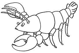 Printable Lobster Coloring For Preschool
