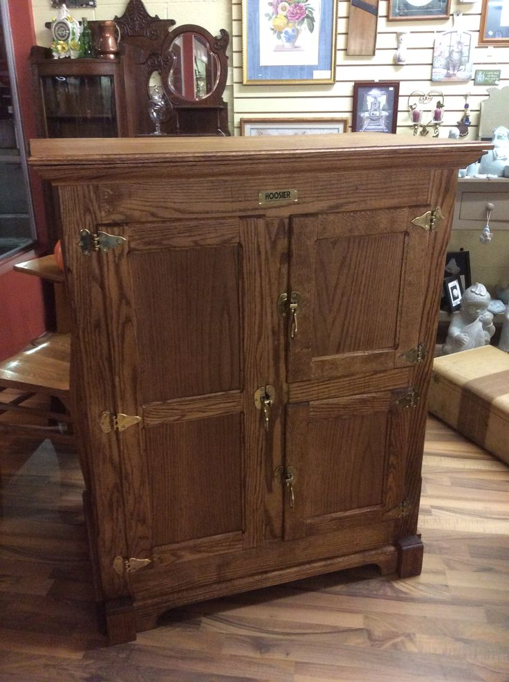 "Oak Ice Chest Reproduction $449.95 4' Tall. 40"" Wide. 22"" Deep.  **TIMELESS TREASURES CORNER** Business Hours: Monday thru Saturday 10 am to 6 pm Store Phone: (641) 672 - 2544 Call or TEXT Cell: (641) 295 - 0854 ****Location: 121 High Ave West, Oskaloosa. Across the street from Pizza Ranch, MI Ranchito, and JC PENNEY****"