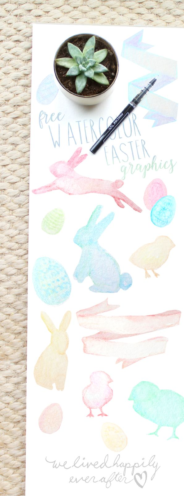 Free Watercolor Easter Graphics