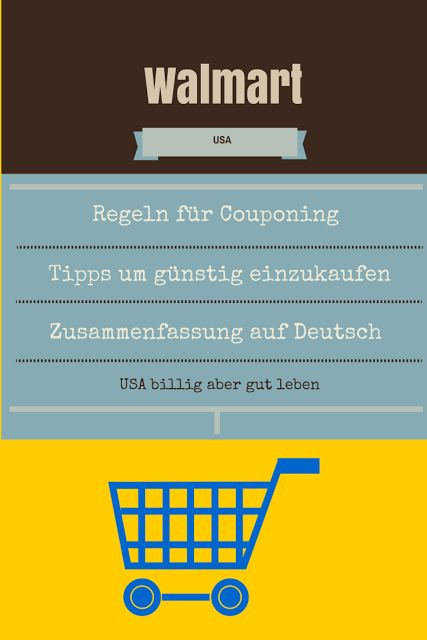 Für alle, die in die USA reisen, oder dort wohnen ist Walmart ein Begriff. Lese hier wie man dort sparen und couponen kann auf Deutsch erklärt + Tipps: http://usabilligabergutleben.blogspot.com/2015/02/walmart-regeln-coupon-policy-und.html
