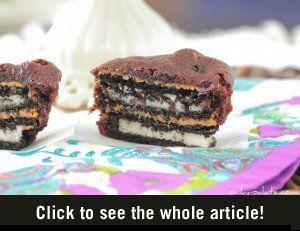 Oreo Pindakaas Brownie Cakes - Vrouwen.nl