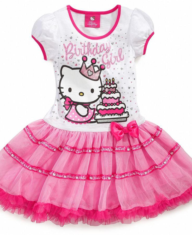Kitty white birthday dresses