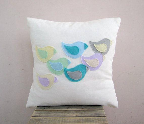 appliqued pillow cover