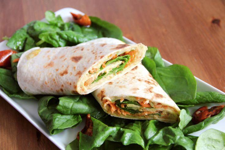 Hasperat s hummusem a špenátem | Veganotic