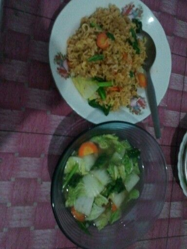Nasi Goreng and Capcay Indonesian Food