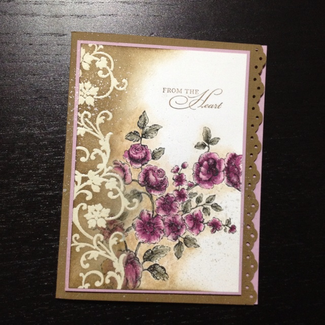 Stamperjadeb.Blogspot.Com/  Love the craft and purple combo.: Watercolor, Style, Colors Together, Add Flowers