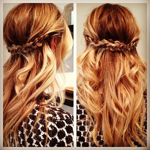 I also like this look for the flower girls, with just a pretty flower tucked into one side of the braids versus a crown