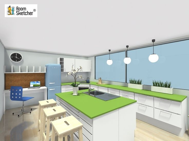 Need Help Planning A Kitchen Design? RoomSketcher Shows You How To Plan  Your Kitchen With An Online Kitchen Planner. Part 56