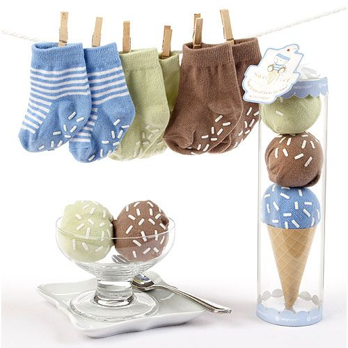 Sweet Feet Three Scoops of Socks Gift Set in Blue from PoshTots