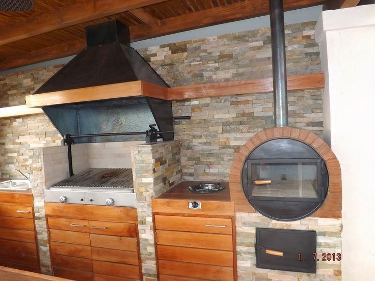 Pergolas y quinchos jard n quincho piscina pinterest for Bar de madera chile