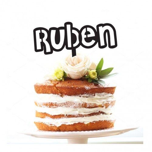 Stencil Name - Custom Cake Topper