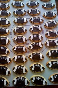 Superbowl Sugar Cookies with Royal Icing | 23 Cute Football Snacks For Your Super Bowl Party