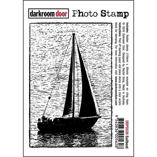 Darkroom Door Photo Stamp - Sail Boat