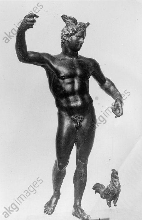 MERKUR / SKULPTUR, PROVINZIALRÖMISCH. Römische Skulptur, provinzialrömisch. Merkur. Bronzestatuette. Aus dem Trierer Altbachtal.
