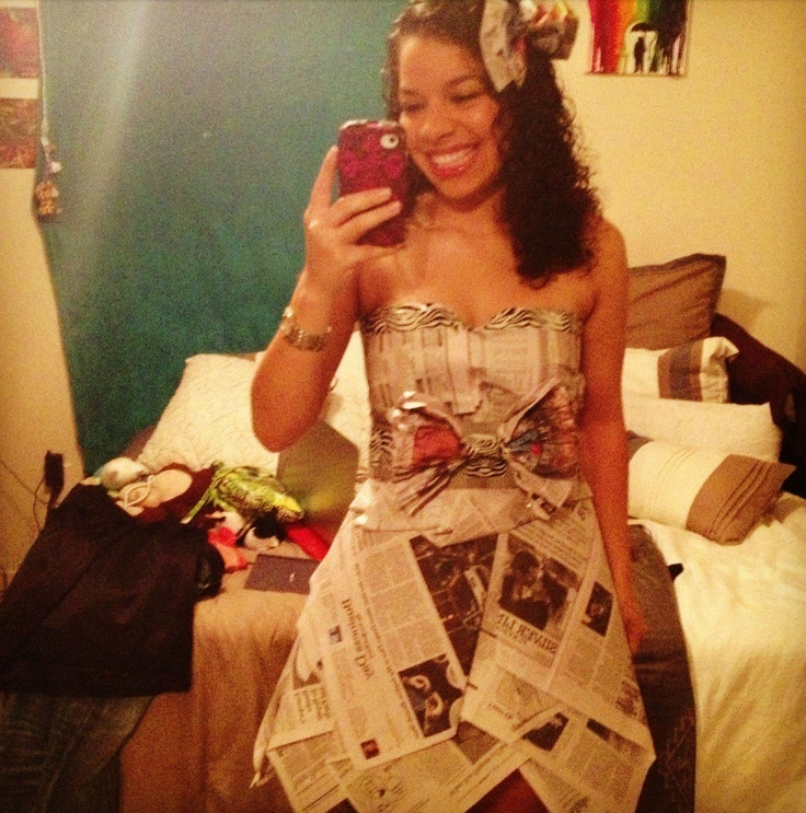A newspaper dress for an ABC party. | YES! | Pinterest ...