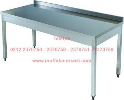 Çelik Mutfak Tezgahı TA606B:Sanayi tipi yemekhane otel restoran tezgahlarından olan bu çelik mutfak tezgahı paslanmaz çelikten imal edilmiş olup son derece kalitelidir - Çelik mutfak tezgahı satış telefonu 0212 2370749