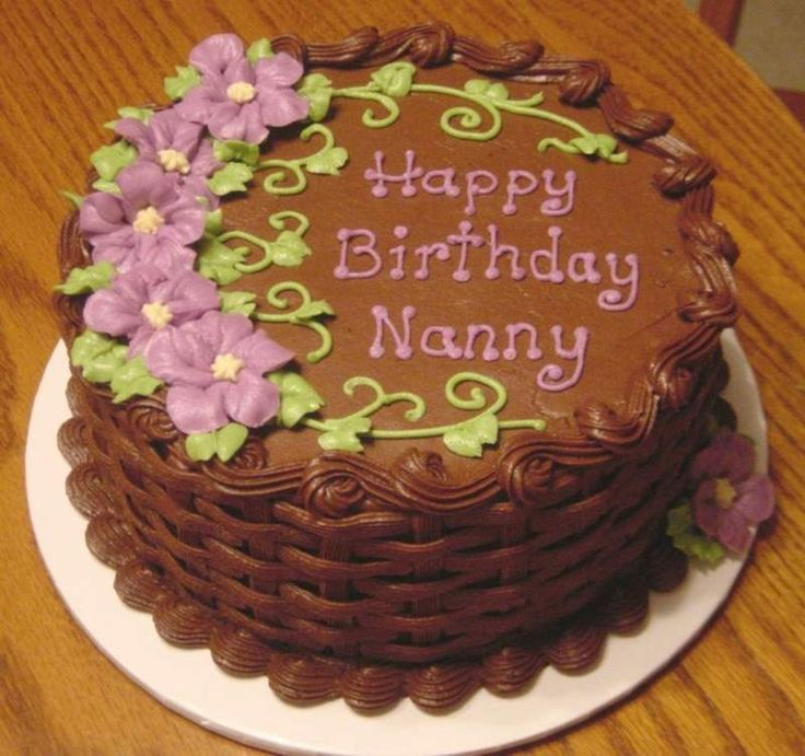 Chocolate basketweave cake