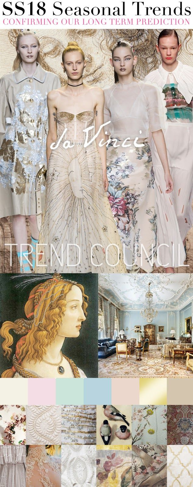TRENDS // TREND COUNCIL - DA VINCI . SS 2018                                                                                                                                                                                 More