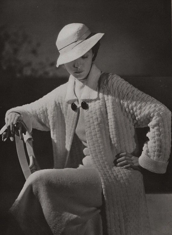 PDF of Minerva's St. Moritz Coat, Skirt, and Hat Knitting Pattern No. 3611, c. 1934