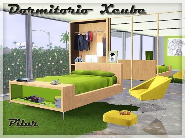 Bedroom Xcube By Pilar   Sims 3 Downloads CC Caboodle