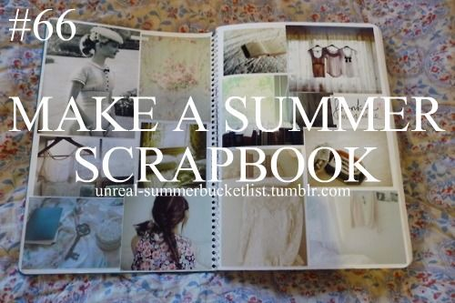 at the end of summer- a couple pages for each day/week depending on how many pictures you want