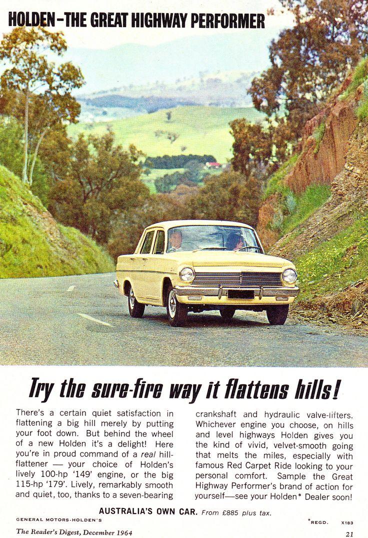 https://flic.kr/p/hEWJPi | '64 EH Holden Special...Highway Performer... Aussie Original Magazine Advertisement