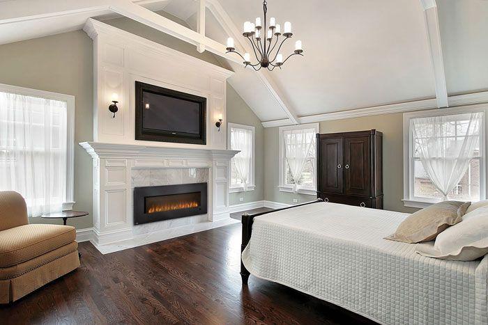 Fireplace in the bedroom!!! Slimline Crystal Detail