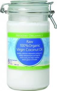 Raw Coconut Oil Niugini Organic 1lt  Organic Coconut Oil - Niugini Organics    Country of Origin; Papua New Guinea.    Ingredients: 100% Organic Virgin Raw Coconut Oil.    This Product is Cold Pressed    Certification: ACO
