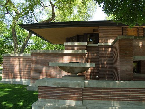 Frederick c robie house chicago illinois 1910 prairie for Frank lloyd wright prairie house