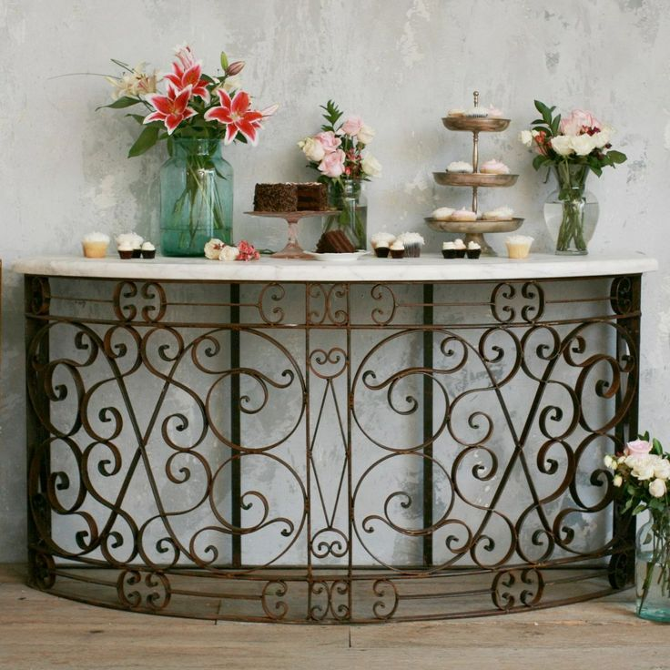 Love the iron it 39 s like i 39 m in italy eloquence iron for Balcony console