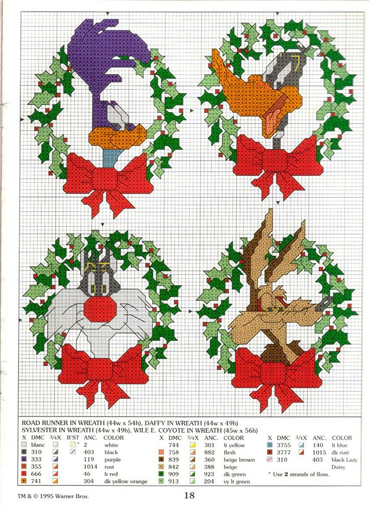 Looney Tunes - holiday wreaths