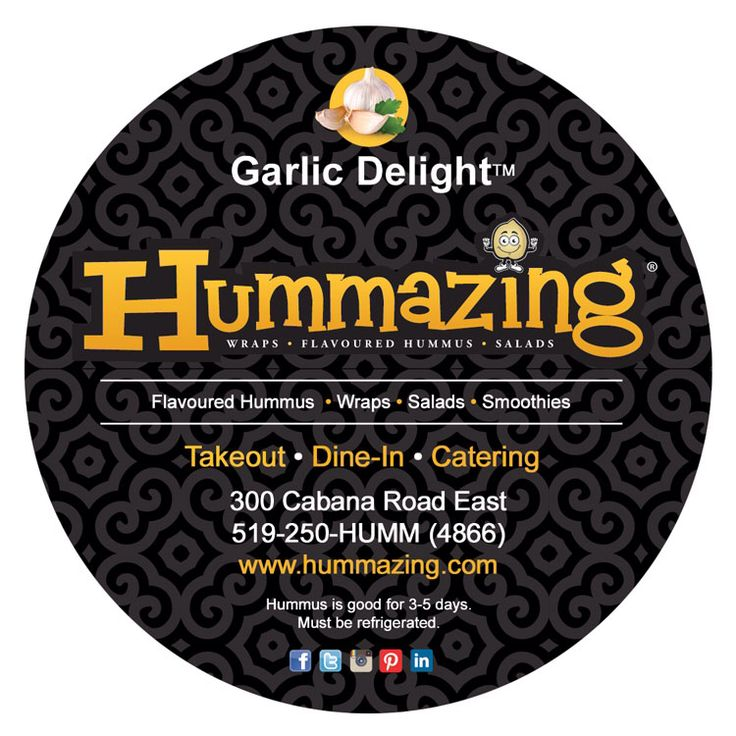 New labels for hummus