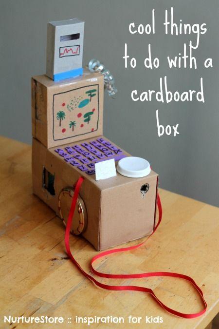 Cool cardboard box crafts for kids | NurtureStore :: inspiration for kids