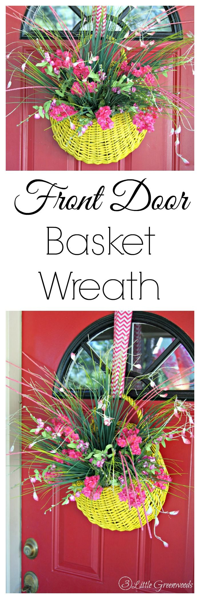 Fabulous Thrift Store Find turned into a Spring Basket Wreath! Love the color an...