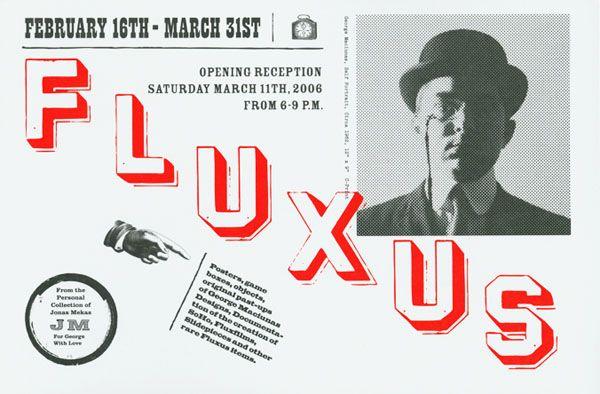 "Stendhal Gallery - Invite exhibition ""Fluxus : To George With Love"" (2006) / #GeorgeMaciunas"