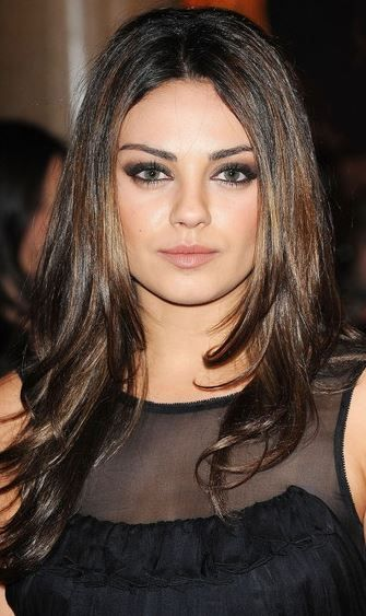 Mila kunis layered hair