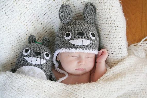 Newborn Totoro Hat and a Doll by AmiAmigos Babies Hat baby girl