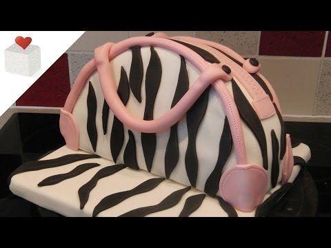 Cómo hacer un Checkerboard Cake cubierto con fondant   Tartas de fondant por Azúcar con Amor - YouTube
