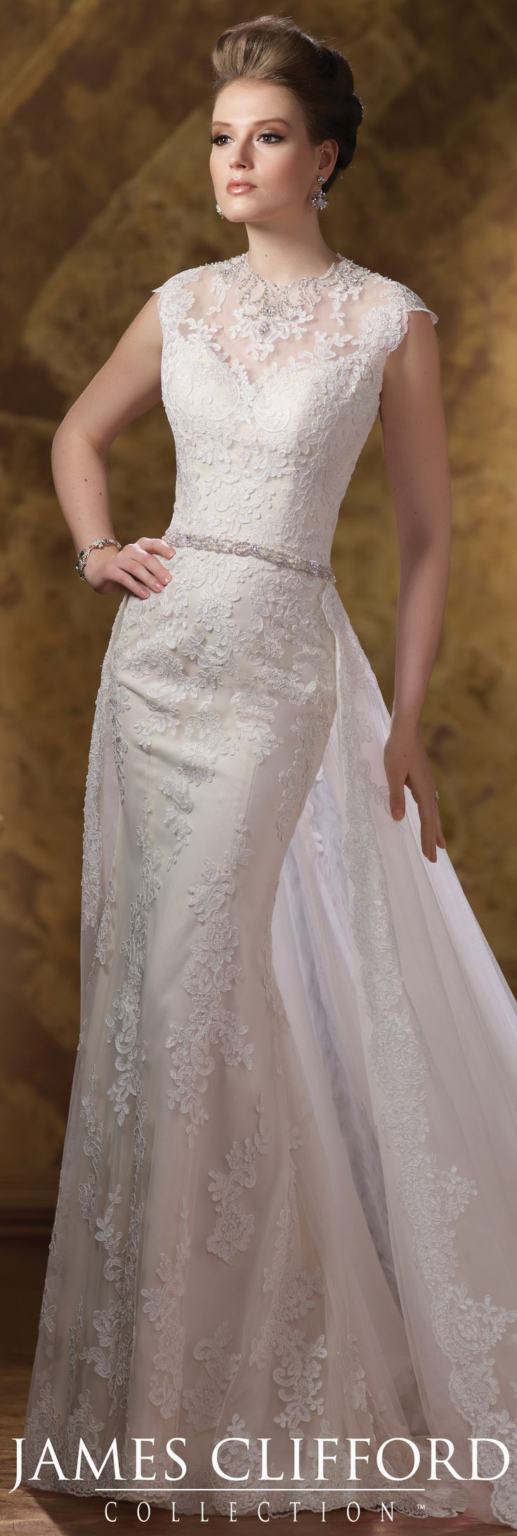 The James Clifford Fall 2015 Wedding Dress Collection - Style No. J21502 #laceweddingdress