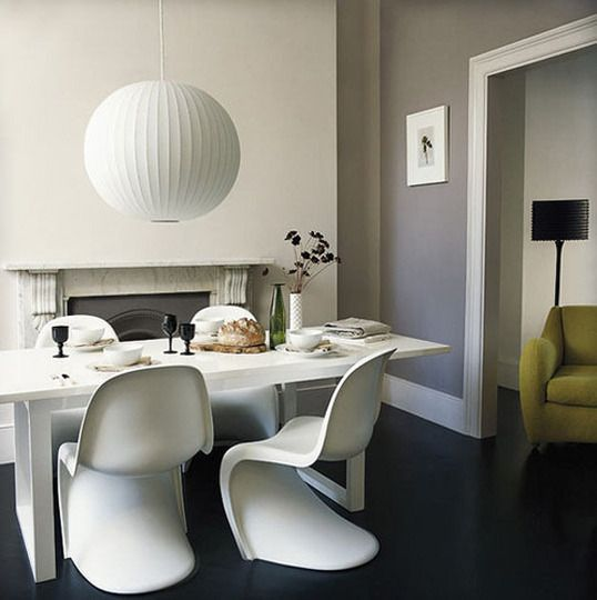 gray walls: Dining Rooms, Decor, Interior Design, Ideas, Inspiration, Interiors, Living Room, Paint Colors
