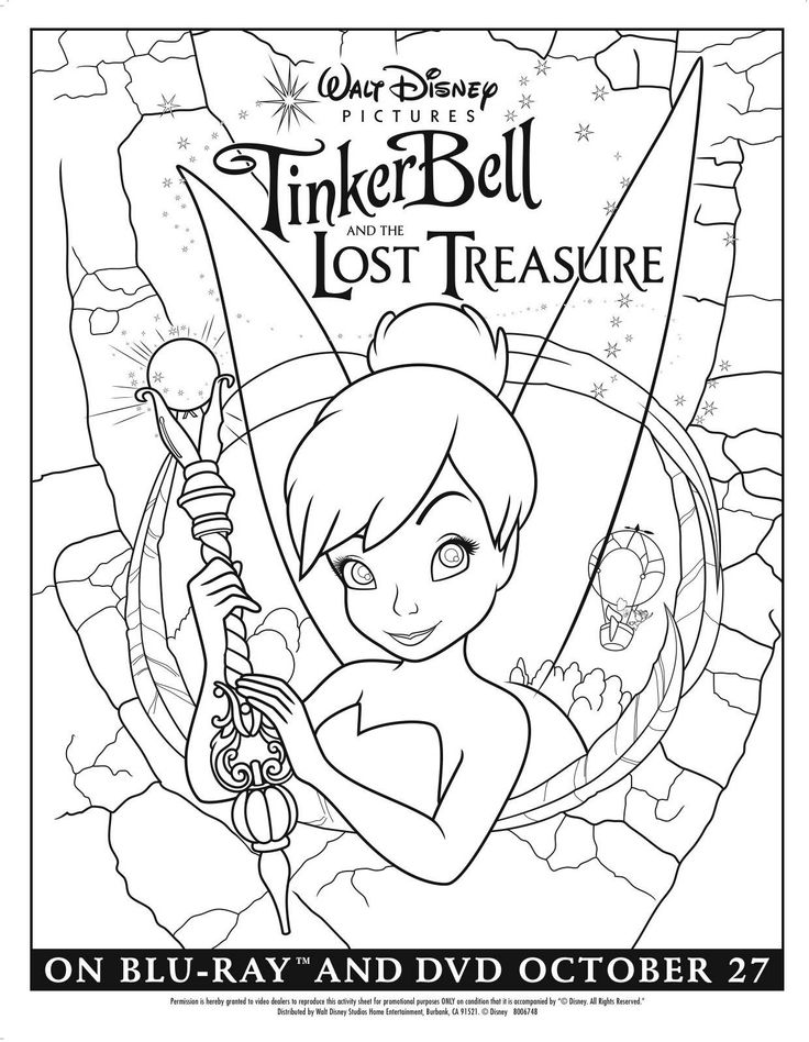 tinker bell and the lost treasure 2009 photos and characters kids colouringcoloring sheetscoloring pagesadult