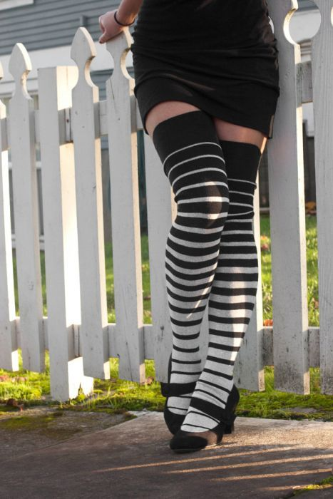 85e2a9ef8 Extraordinary Gradient Stripes Thigh High in 2019