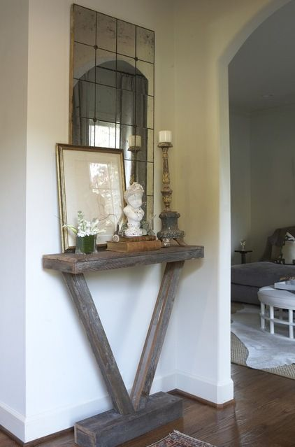 A narrow console like this would be perfect in our small entry