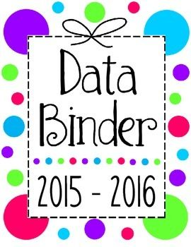Here is a free collection of data sheets and a cover page to include in your reading binder.  Included in this set are 5 different data collection/formative assessment tools and a description of how to utilize them in your classroom. I hope you find these tools useful!