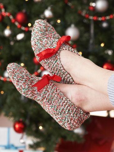 Slippers | Yarn | Knitting Patterns freebie: thanks so xox