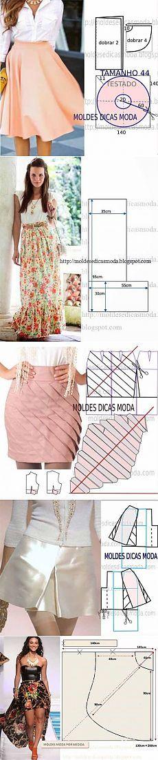 Wzory różnych spódnice |  kochanka